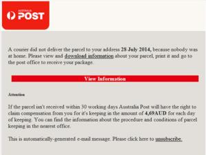 AusPost Parcel-Scam